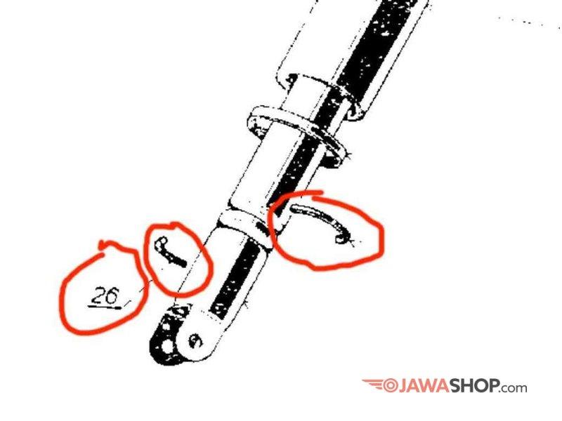 spring lock set of rear shock