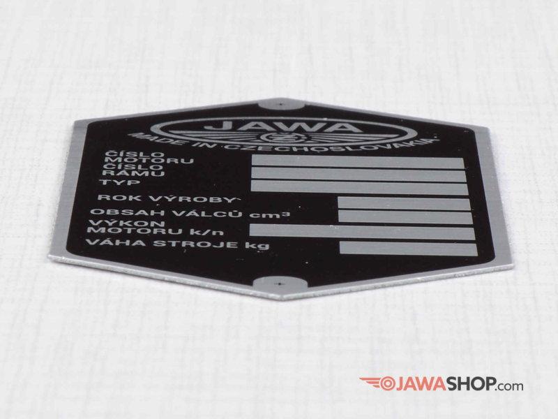 Jawa CZ Motokov Typenschild Schild id plate