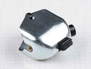 Lights switch, horn button with side hole (Zn) (Jawa, CZ Kyvacka) /