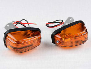 Rear blinker set - rod 25mm / Jawa 250, 350 Panelka