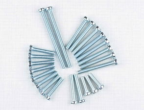 Engine bolt pack - 23 pcs (CZ 450, 453, 455) /
