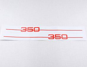 "Side box sticker ""350"" - set (Jawa 634) /"