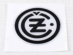 "Sticker ""CZ"" 50mm - white / black (3D) / CZ"