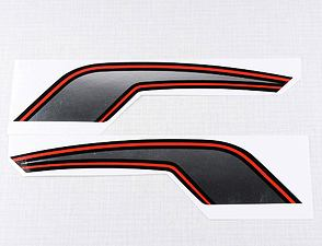 Fuel tank sticker set - silver / red / black (CZ 472) /