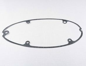 Gasket of left crankcase cover (clutch) - 0.8mm (Jawa 250 Kyvacka) /