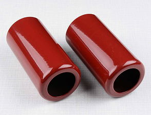 Rear shock cover set -  upper red / Jawa, CZ