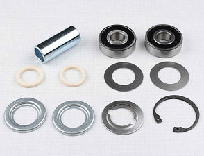 Wheel hub bearing set with spacer 50mm (Jawa, CZ Panelka) /