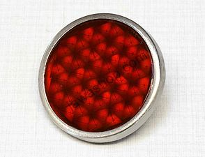 Reflector in tin 51mm with bolt - red (Jawa, CZ) /