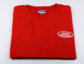 T-shirt red, white JAWA logo (XL Size) /