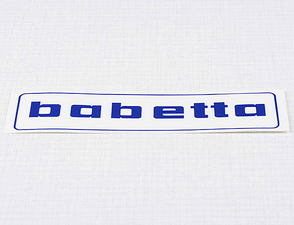 Sticker Babetta 136x32mm - blue / Babetta