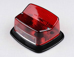 Tail lamp complete with plastic pad (Jawa 634, CZ 477) /