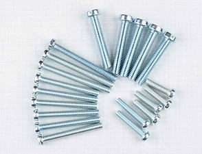 Engine bolt pack - 20 pcs (Jawa 634, Bizon, CZ) /