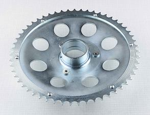 Rear chain wheel, one ball bearing - 55t (Jawa 50 Pionyr) /