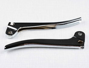 Brake and clutch lever set - chrome (Jawa Perak) /
