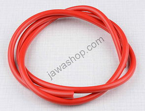 High voltage ignition cable - red 1m / Jawa, CZ