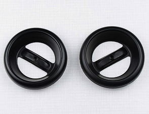 Exhaust silencer cap set - black / Jawa 638-640