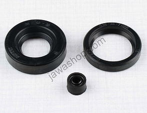 Sealing ring of engine - set, 3pcs (Jawa, CZ 125,175) /