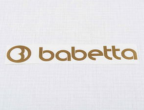 Sticker Babetta 135x25mm - golden / Babetta