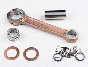 Connecting rod - piston pin 16mm, needles / Jawa, CZ 175, 350