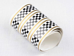 Checkered sticker 3cm x 120cm - WBG (CZ) /