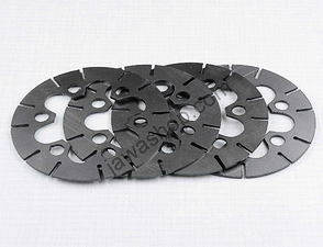 Clutch plate set - original / CZ 125, 150 B,C,T