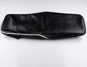 Seat cover black with white line (Jawa 634) /