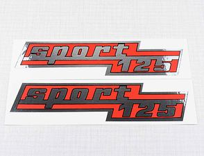 "Side box sticker ""sport 125"" - set (CZ 125) /"