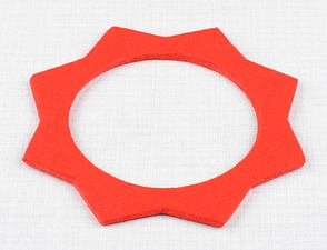 Felt pad of filler cap - red (Jawa, CZ) /