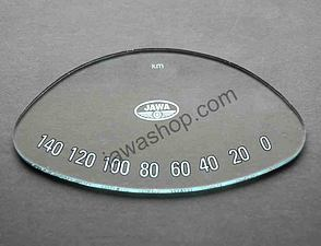 Glass of speedometer - oval (Jawa 250, 350 Panelka) /