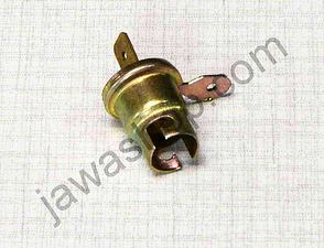 Bulb socket BA9S dual connector (Jawa, CZ) /