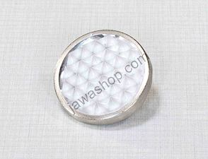Reflector in tin 51mm with bolt - white (Jawa, CZ) /