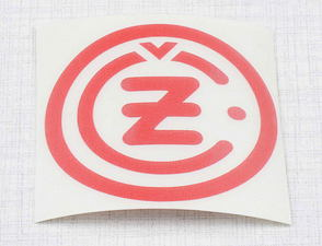 "Sticker ""CZ"" 50mm - red (CZ) /"