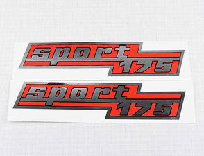 "Side box sticker ""sport 175"" - set (CZ 175) /"