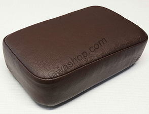 Seat rear rectangle - dark brown (Jawa Perak) /