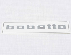 Sticker Babetta 136x32mm - silver (Babetta) /
