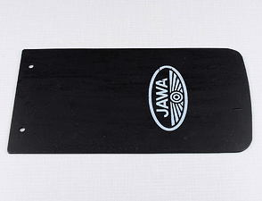 Rear fender flap - rectangle, logo Jawa (Jawa 638,639) /