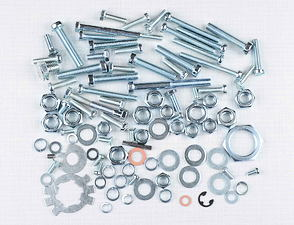 Engine bolt & nut pack - 97 pcs (Jawa 638-640) /