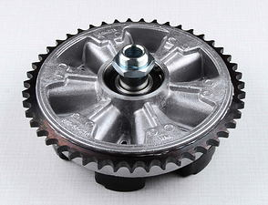 Rear chain wheel - 47t, complete (Jawa 250, 350 Panelka) /