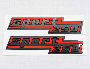 "Side box sticker ""sport 250"" - set (CZ 250) /"