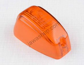 Blinker glass - oval, orange / Jawa 250, 350 Panelka