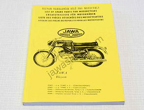 Spare parts catalog - A5, CZ,EN,DE (623, 633) / Jawa Bizon
