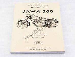 Spare parts catalog - A5, CZ / Jawa 500 OHC type 15