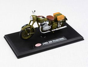 1:18 scale model Jawa 250 Perak (1950) - MILITARY GREEN /