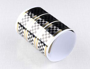 Checkered sticker 3cm x 120cm - SBG (CZ) /