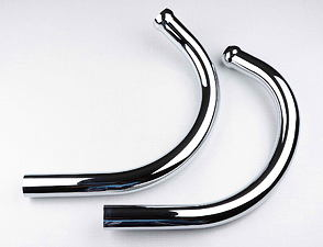 Exhaust pipe set (turned up) / Jawa 639, 640