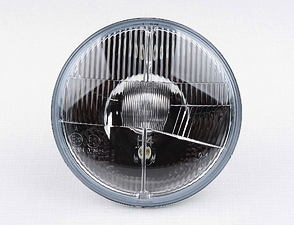Parabolic reflector with glass lens 12V H4 (Jawa 638, 639) /