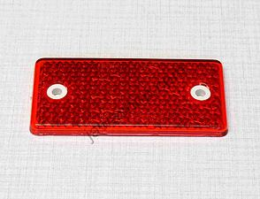Square reflector 95x45mm w/holes - red / Jawa, CZ