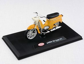 1:18 scale model Jawa 50 Pionyr type 21 - YELLOWISHBROWN /