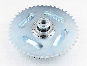 Rear chain wheel - 46t, complete (Jawa 250, 350 Kyvacka) /