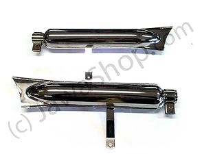Exhaust silencer set - hard frame (CZ 125,150 C) /